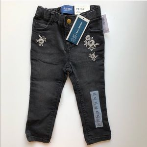 Old Navy | Baby Girl Ballerina Embroidered Jeans